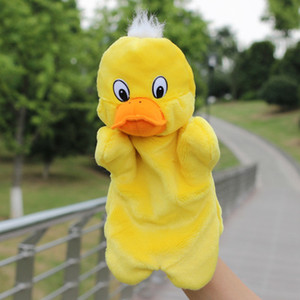 New Fashion Kids Lovely Animal Plush Hand Puppets Childhood Soft Toy Duck Shape Story Pretend Playing Dolls Gift For Children