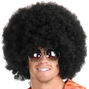 검은 색 또는 갈색 가발 팬시 옷 입히기 # 1 Afro hair - Funny Wig - Party Costume Wig