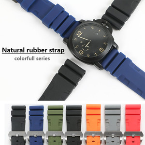 26mm 24mm 다채로운 방수 고무 실리콘 시계 밴드 스트랩 핀 버클 손목 시계 스트랩 Panerai 시계 PAM 남자 PAM00616 도구