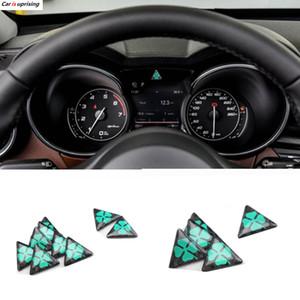 50pcs 25mm NOUVELLE Alfa Romeo quadrilobe autocollants delta vert Logo de voiture emblème Badge pour 159 147 156 166 Giulietta Spider GT