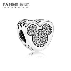 FAHMI 100% 925 Sterling Silver 1: 1 Originale 792050CZ Authentic Temperament Fashion Glamour Retro Bead Wedding Jewelry donna