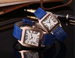 Hediye modu Moda erkekler kadınlar için saatler lady deri İzle gümüş gül altın siyah Bilezik Saatı Marka kadın saat ücretsi ...