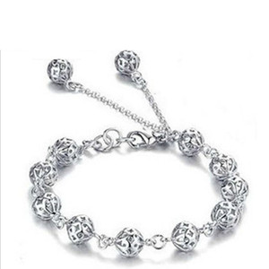 Perforado bola exquisita pulsera de joyería de plata al por mayor una variedad de modelos de explosión de Taobao lote mezclado de joyería popular coreana