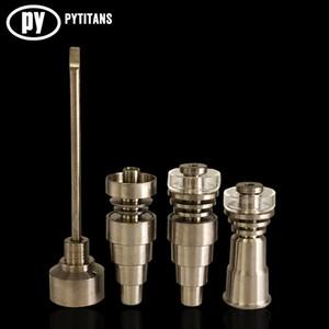 Universal 6 en 1 titanio clavo 10/14 / 18mm Femenino y masculino Domeless clavo de carbohidratos Cap Para tuberías de vidrio o silicona Pipe