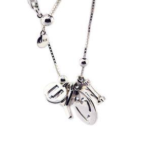 Día de San Valentín Te amo Collar Colgante de joyería de plata esterlina Collar para mujer Joyería europea