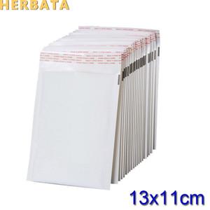 (110 * 130mm) 100 teile / lose Weiß Perle Film Blase Umschlag Kuriertaschen Wasserdichte Verpackung Versandtaschen CL-2022