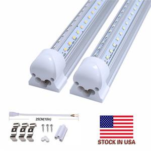 T8 LED أنبوب 4FT 5FT و 6ft 8FT دمج كول باب الإضاءة V الشكل LED ضوء بار LED ضوء نيون الرف 100LM / W AC85-265V