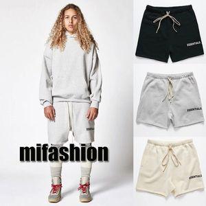 18ss роскошные страх Божий новый летний мода женщины мужчины противотуманных основы шорты брюки Sweatshort мужская повседневная пляж брюки