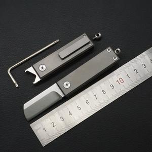 Nouveau S35vn multi-usages couteau de poche porte-clés pliant couteau TC4 alliage de titane poignée extérieure camping survie couteau de poche cadeau