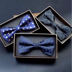 Erkekler Bow Kravatlar 2017 Yeni Polyester Bow Tie Marka Erkek Puantiyeli Papyon Kravat Iş Düğün Erkekler Kravat Gravata Borboleta