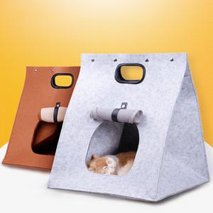 Atacado 1 PCS Dobrável Portátil Felt Cat Dog House Ninho De Viagem Deformable Pet Saco de Dormir Pet Carrier Bolsa Dog Supplies