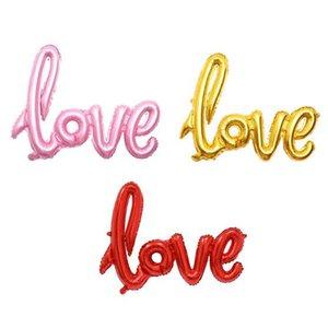 Новая любовь алфавит Воздушные шары день рождения партии украшения венчания алюминиевой фольги Balloon Большой Письмо шары сиамские Любовь Баллоны 108 * 64см