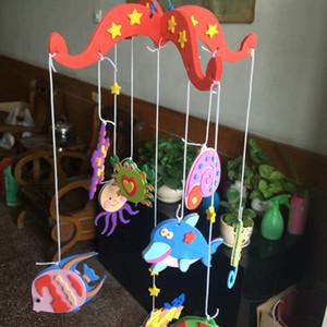 1 conjunto Colorido Campanula DIY Wind Chime Crianças Manual Artes e Ofícios Brinquedos Fruta Oceano Animal Crianças Educacional Enigma Brinquedo Artesanato Kit