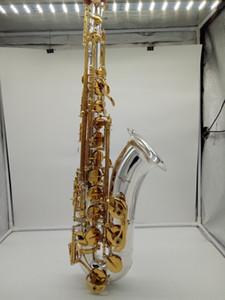 Новый New Yanagisawa Tenor Saxophone T-9937 T-WO37 Серебристый Золотой Ключ Сакс Профессиональный мундштук Патчи Pads Reeds Изгиб шеи