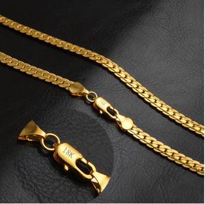 vente limitée bijoux coréens en gros européen et américain bijoux chauds or bien 5 MM plein corps 18 K collier en or rose mixte lot