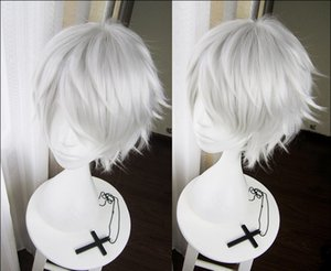 High Quality Anime Tokyo Ghoul Kaneki Ken Wigs Short Straight Silver Heat Resistant Synthetic Hair Cosplay Wig + Mask