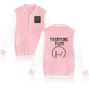 Оптовая цена Twenty One Pilots Baseball Jacket Для Couple 21 пилотов Ленточные Поклонникам Женская зимняя куртка и пальто 4XL