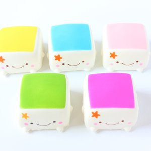 30PCS lot 6CM kawaii soft squishy slow rising Japan Male tofu before bun toys cell phone pendant keychain cute squishies bread