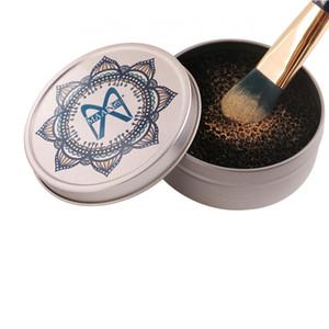 Pinceaux De Maquillage Portable Pinceau De Poudre Nettoyant Laveur Épurateur Remover En Aluminium Maquillage Brosses Tapis De Nettoyage Boîte De Nettoyage Outils