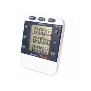 3 Channels Electronic Timers Laboratory Reminder Countdown Timer Digital Stopwatch Multi Functional Timer Interval Timer Stopwatch