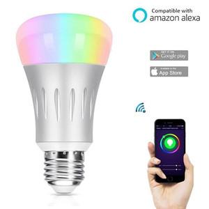 Wifi Smart Bulb funciona con Amazon Alexa Google control de voz casero E27 LED Light 7W 6500K RGB iluminación inteligente Color que cambia Dimmable
