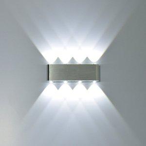 8 Watt Moderne Rechteck LED Wandleuchten Leuchte Aluminium High Power 8 LED Up Down Wandleuchte Spot Licht Treppenlicht 2 stücke