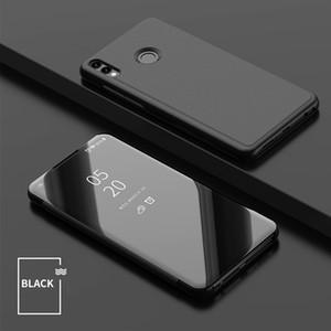 Miroir de luxe Clear View Case pour Huawei Honor 8X pour Honor 8X Max 10 lite Voir 20 V20 Couverture de téléphone Plating Base Vertical Stand