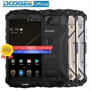 Gerçek IP68 DOOGEE S60 Kablosuz Şarj 5580 mAh 12 V2A Hızlı Şarj 5.2 '' FHD Helio P25 Octa Çekirdek 6 GB 64 GB Smartphone 21.0MP Kamera