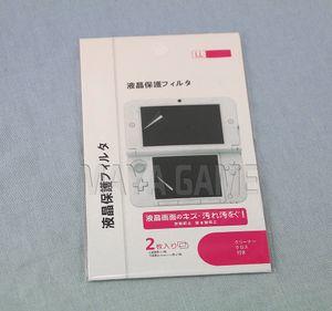 New Promotion HD Clear Top Bottom Touch Protecteurs pour 3DSXL 3DSLL LCD Film de protection pour 3DS XL LL