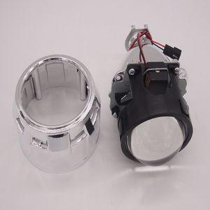 "HID Bi-Xenon lente del proyector de 2.5"" pulgadas de fácil instalación faros de xenón kit h4 6000k Sábana Blanca"