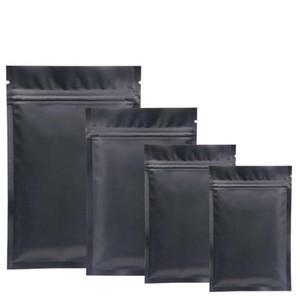 Folha de alumínio auto selagem do saco preto Cor da parte inferior lisa Matt Embalagem sacos de chá bolsa pequeno recipiente de alimento para impressão Atacado 0 21zc4 ff