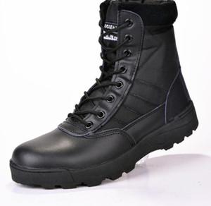 Stivali di cuoio militari da uomo Combat bot Stivali tattici di fanteria askeri bot army bots army shoes erkek ayakkabi