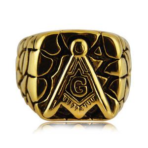 L'acciaio di titanio di alta qualità libera il Mason Masonic Master Signet l'anello del Mens dell'anello degli uomini di modo dell'anello del cavaliere di modo per gli uomini