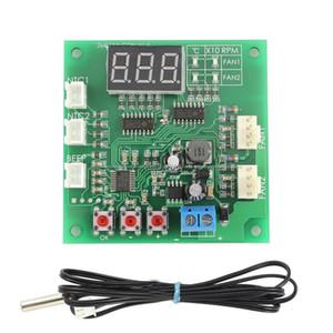 Freeshipping مروحة ترموستات الحاكم 2-Way 4-Wire pwm dc 12 فولت / 24 فولت / 48 فولت درجة الحرارة مع الرقمية led ديسبالي