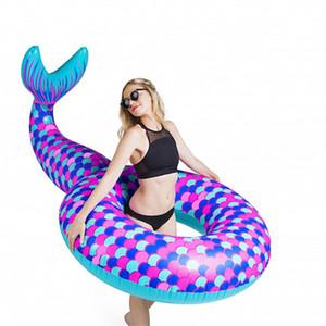 Meerjungfrau Form Design Schwimmen Ring Übergröße Sicherheit Erwachsene Pool Schwimmmatte Super Gemütlich Kreative Wasser Spielen Aufblasbare Schläuche