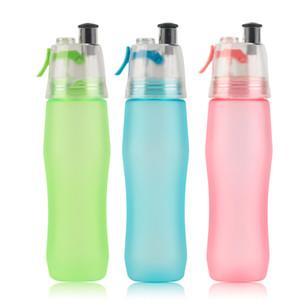 740 ml Creative Bole d'eau Portable Sport Bole Spray Moisturizin Atomizing Cycling Gym Boles buveur Shaker