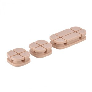 VBESTLIFE 3Pcs Magnetic Cable Clip USB Cable Holder Organizer Winder Desktop Wire Cord Management System Wire headphone Winder