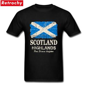İskoç İskoçya Bayrağı Giysi Son Tasarlanmış Erkekler T Shirt Kısa Kollu% 100% Pamuk O Boyun T Gömlek Yetişkin