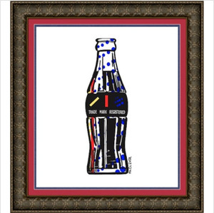 Roy lichtenstein COLA SODA POP BOUTEILLE MR CLEVER peint à la main peinture à l'huile HD imprimée sur cadre de haute qualité en toile options RY16