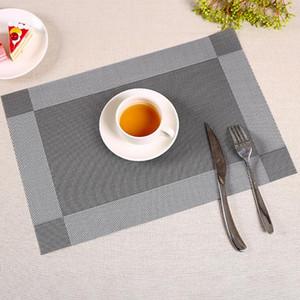Pvc Yemek Masası Placemat Yalıtım Kaymaz Tablolar Mats Resturant Yeniden kullanılabilir Pad Alev Geciktirici Placemats Çevre Dostu 2 5qf ii