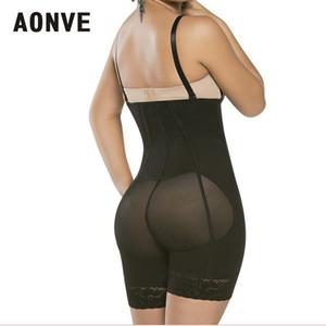 AONVE Frauen Bodysuit Abnehmen Mantel Korsett Modellierung Strap Korsetts Bustiers Mit Reißverschluss Schwarz Taille Trainer Abnehmen Uunderwear