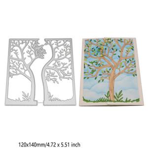 شجرة إطار قطع يموت المعادن الاستنسل القصاصات ورقة بطاقة ألبوم النقش الحرف