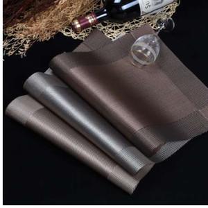 WHQ 4 Pcs / lot Placemat mode pvc tapis de table à manger tampons à disque bol pad verres sous-main imperméable nappe pad pad antidérapant