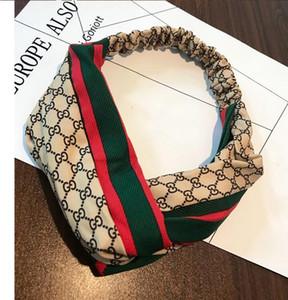 2019 l'Europe et les États-Unis nouveau réseau grand nom lettre de personnalité rouge lettre verte bande rouge couture cross cheveux sauvages plomb avec des bijoux