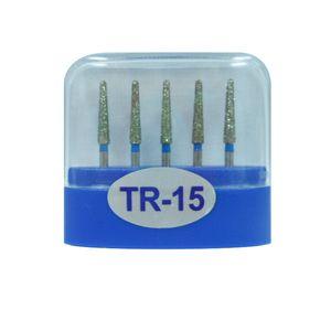1 paquet (5pcs) fraises diamantées dentaires TR-15 moyen FG 1.6M pour pièce à main dentaire haute vitesse nombreux modèles disponibles