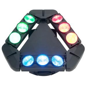 Nueva luz caliente móvil del disco de la cabeza del haz de araña del triángulo 9pcs 12w LED para la demostración del teatro de la etapa