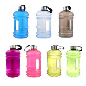 2 .2l Gran Capacidad Plástico Botellas de agua Deportes al aire libre Gimnasio Entrenamiento físico Camping Correr Entrenamiento Botella de agua