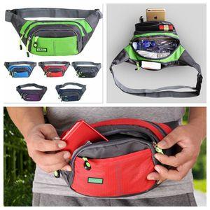 Нейлон талия пакеты водонепроницаемый поясная сумка досуг сумка Waistpack падение мешок Фанни пакет поясная сумка езда сумка 6 цветов DDA372