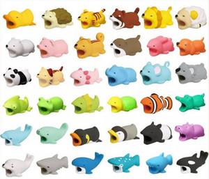 Симпатичные укус животных USB молния зарядное устройство защиты данных крышка мини провод протектор кабель шнур телефон аксессуары творческие подарки 31 дизайн