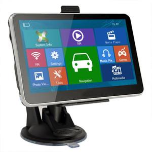 Sıcak HD 7 inç Araba GPS Navigator Bluetooth AVIN FM 800 * 480 Dokunmatik Ekran 800 MHZ WinCE6.0 Yeni 4 GB IGO Primo Haritalar